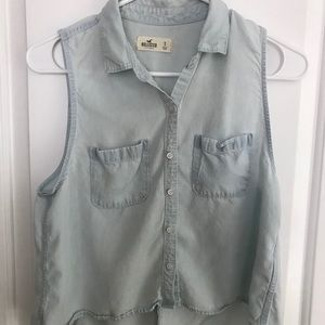 Hollister Jean Shirt With Opened Lace Backing